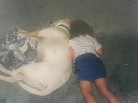I also really enjoyed laying on the floor with Bonnie or even in her dog bed
