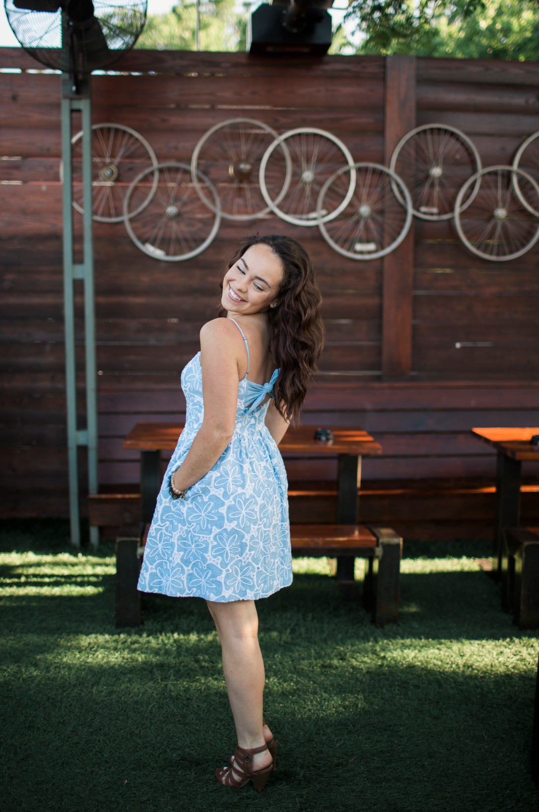girl-in-blue-and-white-dress